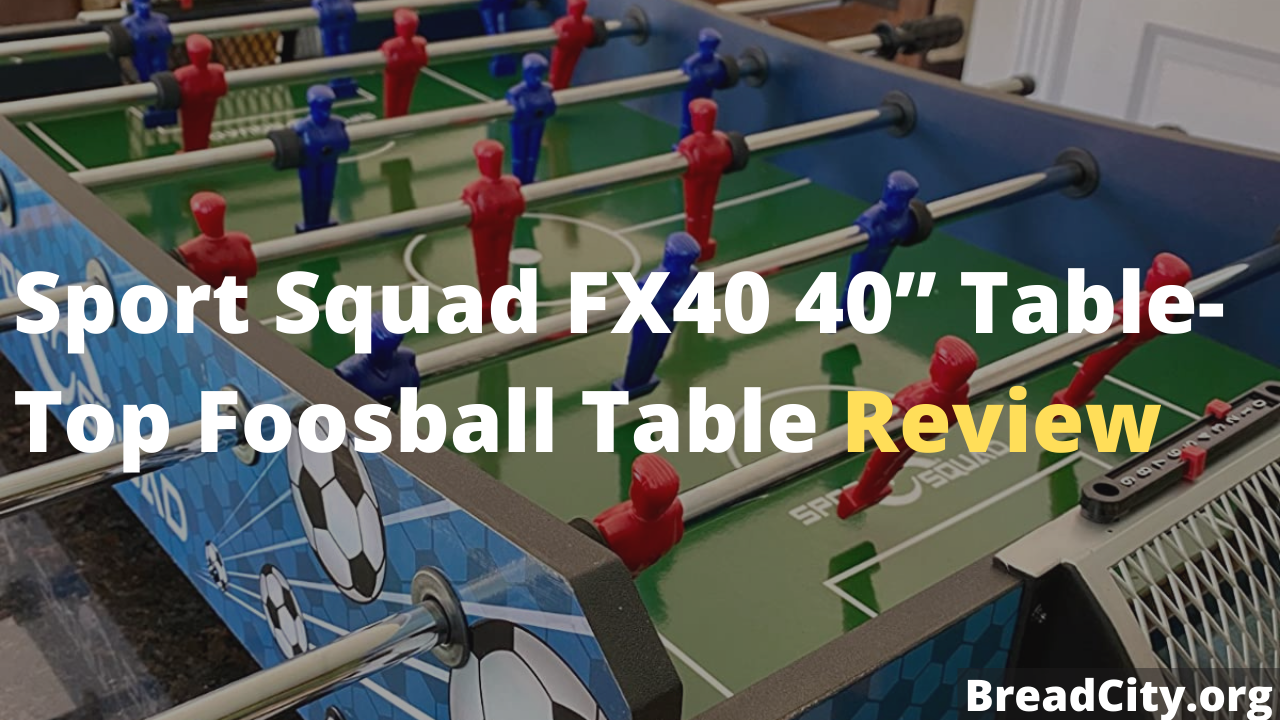 """Sport Squad FX40 40"""" Table Top Foosball Table Review - Is it worth Buying"""